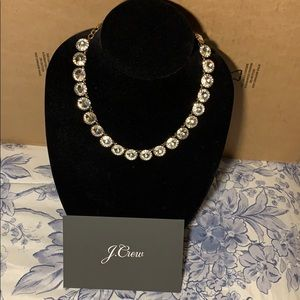 Silver and bronze classic jcrew Crystal necklace
